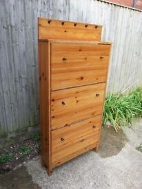 Hardwood Shoe Cabinet
