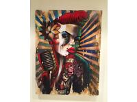 Honey Rose Hand Embellished Canvas Print by Terry Bradley