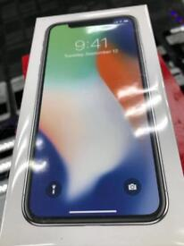 iPhone X 256gb silver new sealed unlocked any network