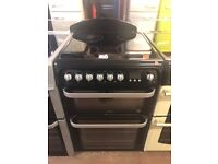 60CM BLACK HOTPOINT ELECTRIC COOKER