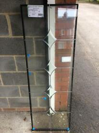 Double glazed 28mm thick glass unit with 4 diamond bevels, size 507 x 1506, it's brand new for £50.