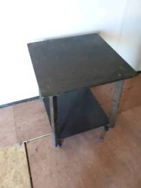 Small side table on wheels