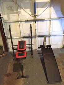 Bench press & sit up bench