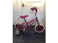 Small Girls Bike with Stabilisers