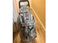 Shopping Trolley Luggage Bag With Wheels - Good Condition