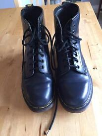 Navy Dr Martens boots