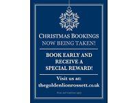GOLDEN LION ROSSETT CHRISTMAS BOOKINGS NOW BEING TAKEN