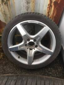 Mercedes benz alloy wheel with tire. OFFERS!!