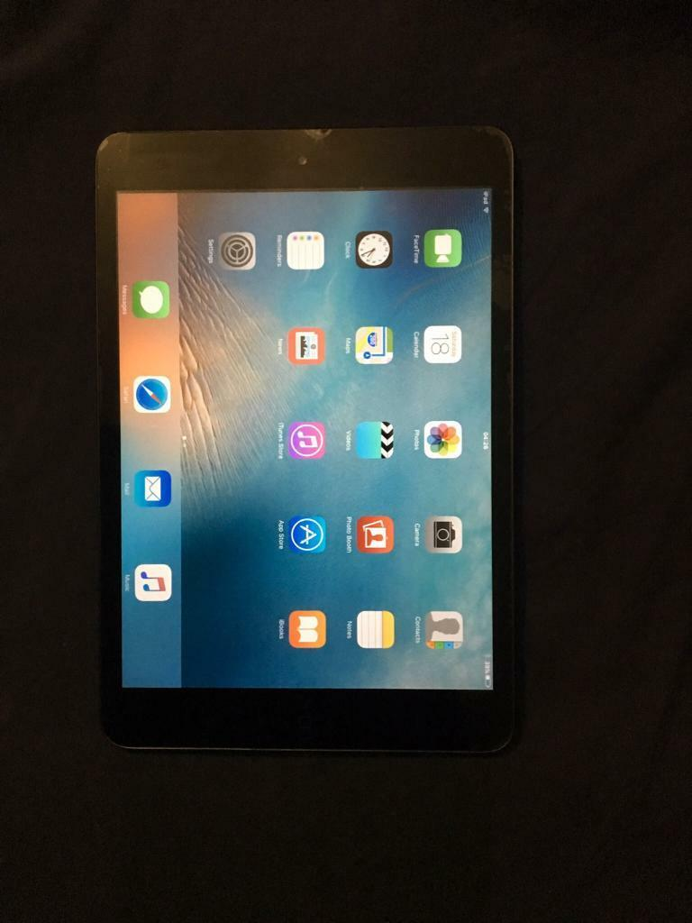 Apple iPad mini 2 space greyin Littleover, DerbyshireGumtree - Apple iPad mini 2 space grey Fully working very very small chip at top of screen can hardly be noticed see picSale is for iPad mini only no box or charger Can be shown all working any tests welcome Collection from Derby