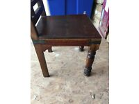Table and four chairs solid mahogany