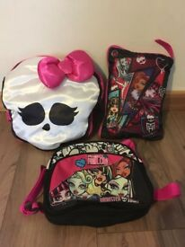 Monster high bag and pillow set.