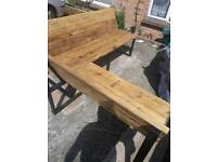 Reclaimed scaffold bench