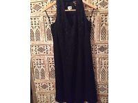 ARMANI LITTLE BLACK DRESS SIZE 36 STUNNING SEQUIN BEAD DETAILS