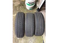 3 tyres in new condition