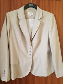 Tailored Marks and Spencer beige jacket size 18