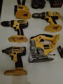 Dewalt 18v Power Tool Kit Drills Jigsaw Impact Driver Plus More