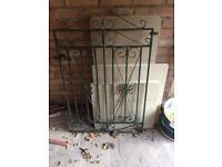 Wrought iron single garden gate