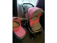 Pram Stroller Buggy Pushchair Poussette 2in1 + Piano Gym (Play Mat)