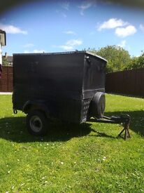 Small black trailer for sale led lights can store alot of stuff good for camping