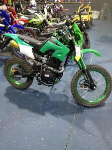 150 CC Green Dirt Bike 4 stroke.  Electric start  Brand NEW ONLY 1 Available