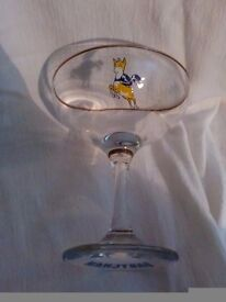 17 x yellow 70s Babycham champagne glasses