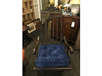 Gorgeous Unique Antique Victorian Ornately Carved Folding Garden Deck Chair
