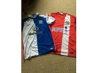 2 x Blackburn Rovers Shirts