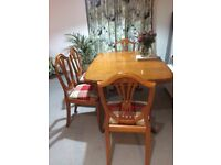 Extending Dining table and chairs great upcycling project