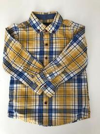 Yellow check shirt from NEXT size 18-24 month