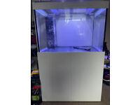 3x2x2ft White Aqua one 300 s2 marine tropical fish tank aquarium with setup (delivery installation)