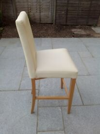 John Lewis (Miso) Cream Leather Bar Stool.
