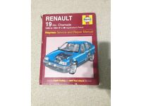 Renault 19 Haynes Service and Repair Manual