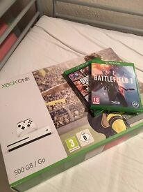 Xbox One S Boxed, 2 Pads, 2 Games, 2 weeks old.