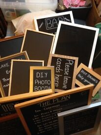 Assorted blackboard frames