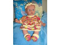 NEW HAND KNIT CLOTHES TO FIT BABY ANNABELL/BABY BORN 16/18 inch dolls