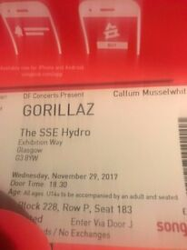 Gorillaz Concert Ticket