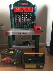 Bosch Work Bench with Tool Case and Tool Box