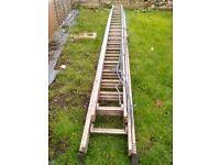 """Treble aluminum 17' 8"""" or 5 meter 380 ladder"""