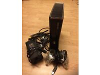 Xbox 360 250gb, controller, steering wheel, Kinect