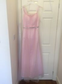 Beautiful baby pink chiffon prom dress size 10