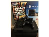 Playstation 4 500GB Console (PS4) with 2 Genuine DualShock 4 Controllers