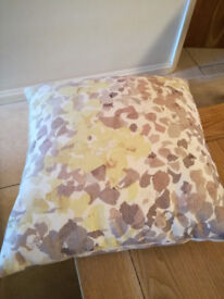 John Lewis small floral patterned cushions. x 2