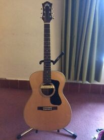 Acoustic Guitar. GUILD F130 - orchestra model. Mahogany back and sides. Spruce top. LR Baggs pickup