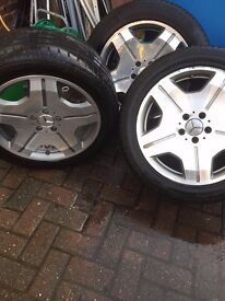 wheels and tires for mercedes cl65