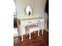 Mirrored Dressing Table (Vanity Unit) with Mirror & Stool