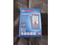 NEW & BOXED BOSCH GLM 100 C PROFESSIONAL LASER MEASURE (EURO PLUG) 0 601 072 700 - RRP 0VER £200