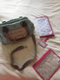 Blooming gorgeous changing bag and mat £10