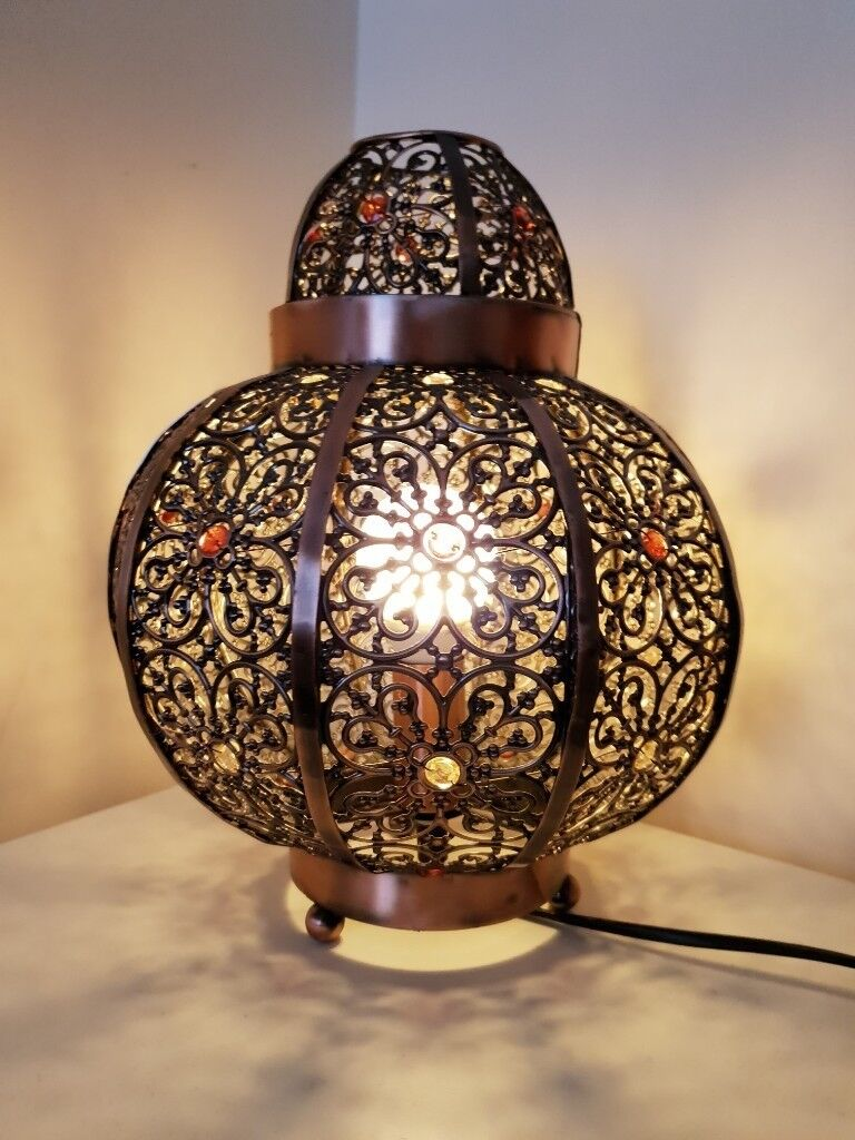 Moroccan Beaded Ceiling Light Shade And Lamp Matching