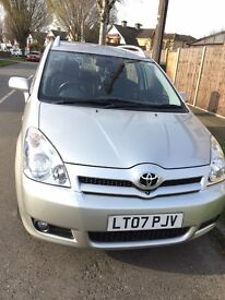Toyota Corolla Verso 1.8 TSpirit Met Silver Multimode 5dr 7 Seater Low Mileage 34179 with Top Spec