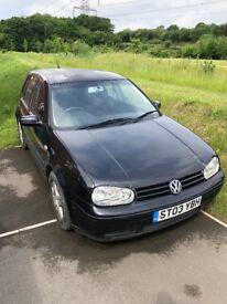 VW Golf 2003 - Spares or repair